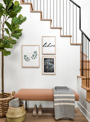 Scandinavian poster by Opposite Wall with abstract line art illustration - Trio gallery wall - Staircase