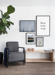 Bird Formation modern minimalist photography poster by Opposite Wall -Living room with gallery wall