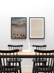 Scandinavian poster by Opposite Wall with graphic typography design of Life is a Sandy Beach - Dining room with Gallery Wall Duo