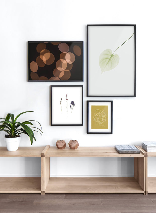 Light Reflections modern minimalist photography poster by Opposite Wall - Living room with gallery wall