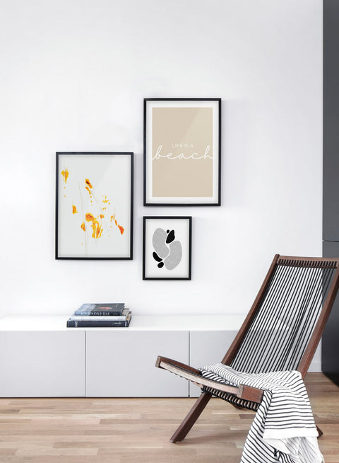 Bursts of Orange modern minimalist photography poster by Opposite Wall - Living room