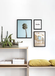 Palm Tree modern minimalist photography poster by Opposite Wall - Living room - Trio