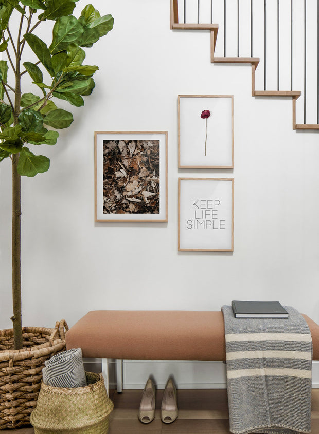 Autumn Leaves modern minimalist photography poster by Opposite Wall - Hallway with staircase