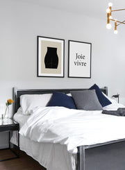 Modern minimalist poster by Opposite Wall with abstract illustration of Posterior - Gallery wall - Bedroom