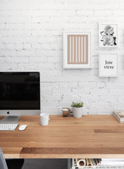 Modern minimalist poster by Opposite Wall with abstract illustration of Two-Toned - Gallery wall trio - Office