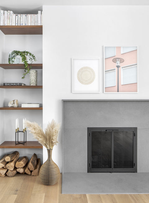 Lamp modern minimalist photography poster by Opposite Wall - Living room - Duo - Fireplace