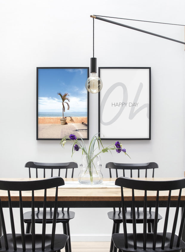At the Beach modern minimalist photography poster by Opposite Wall - Duo - Dining room