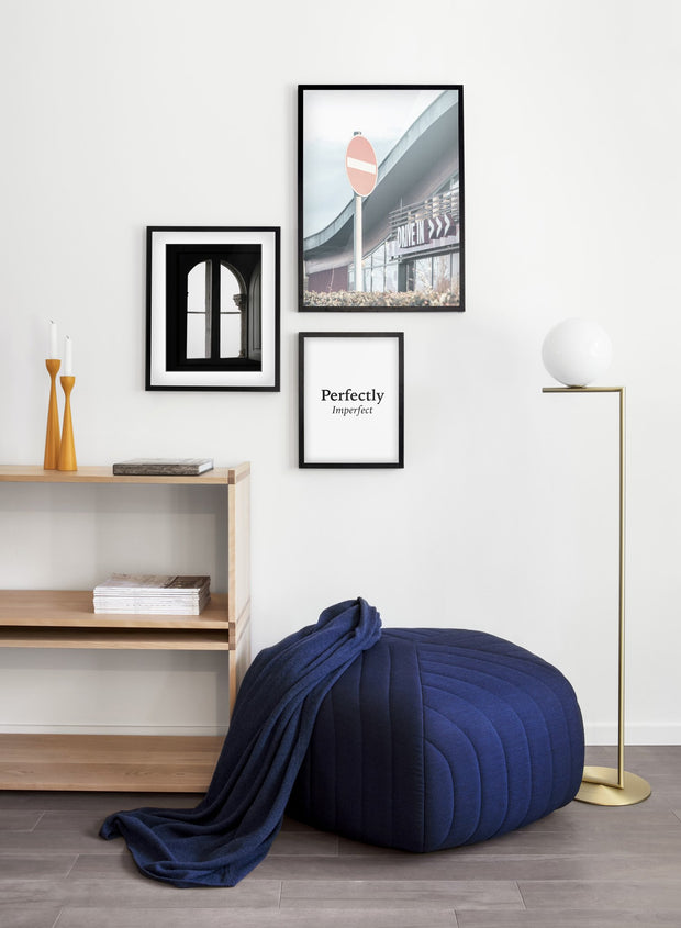 The drive in modern minimalist photography poster by Opposite Wall - Living room - Trio