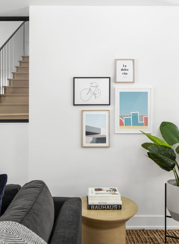 Pop modern minimalist photography poster by Opposite Wall - Living room