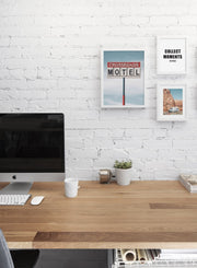 Crossroads modern minimalist photography poster by Opposite Wall - Personal office