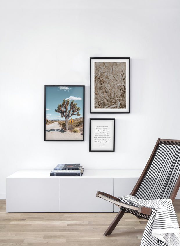 Desert Road modern minimalist photography poster by Opposite Wall - Living room - Trio