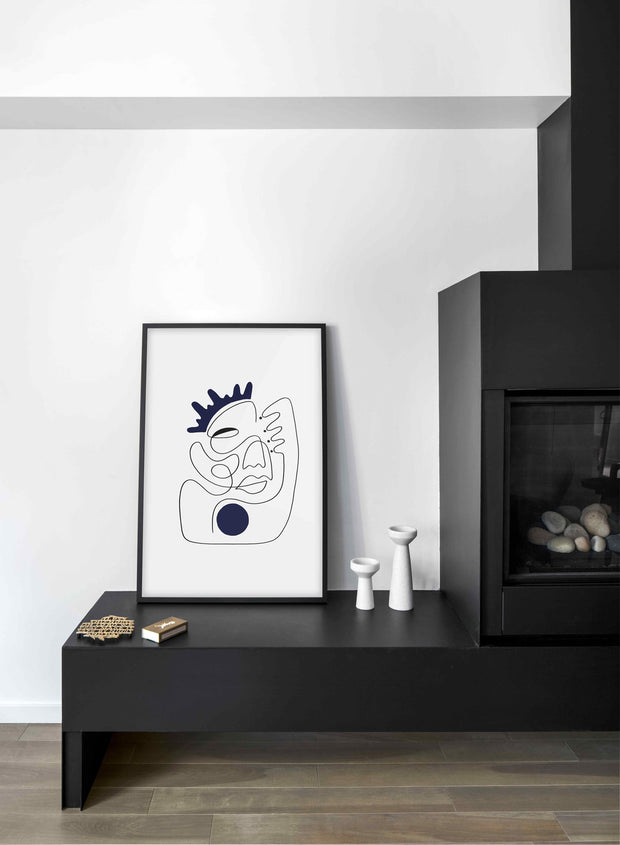 Scandinavian poster by Opposite Wall with abstract line art illustration I'm Feelin' Myself - Single - Living Room