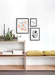 Scandinavian poster by Opposite Wall with abstract line art illustration Eye See You - Trio - Entryway