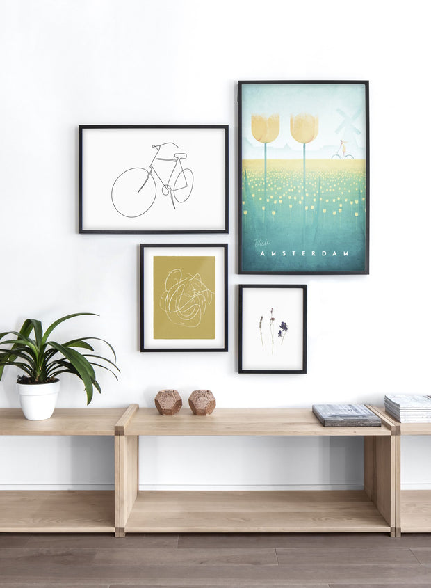 Modern minimalist poster by Opposite Wall with poster quad including illustration of Amsterdam, Netherlands - Entryway