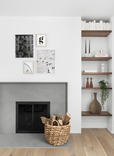 Public Square modern minimalist photography poster by Opposite Wall - Living room