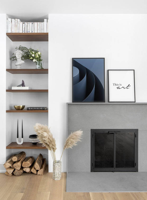 Spiral modern minimalist abstract poster by Opposite Wall - Living room