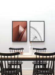 Paper Dunes modern minimalist abstract poster by Opposite Wall - Dining Room