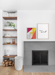 Colourful Pipes modern minimalist photography poster by Opposite Wall - Living room - Duo