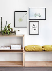 Snowed In modern minimalist photography poster by Opposite Wall - Living room - Trio