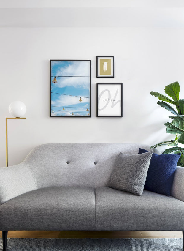 Hanging Lanterns modern minimalist photography poster by Opposite Wall - Living room - Trio