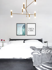 Modern minimalist poster by Opposite Wall with illustration of Paris - Bedroom