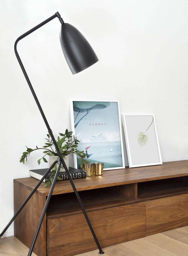 Modern minimalist poster by Opposite Wall with poster duo including illustration of Sydney, Australia - Living Room