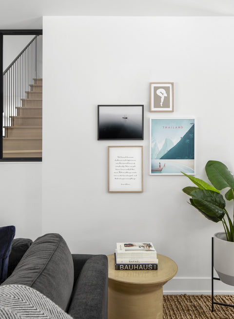 Modern minimalist poster by Opposite Wall with poster quad including illustration of Thailand - Living Room