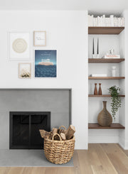 Modern minimalist poster by Opposite Wall with poster quad including illustration of Athens, Greece - Living Room