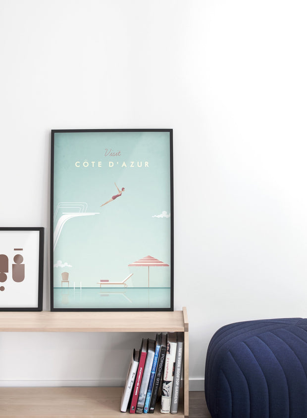 Modern minimalist poster by Opposite Wall with poster trio of illustration of Canada - EntrywayModern minimalist poster by Opposite Wall with poster trio of illustration of CanaModern minimalist poster by Opposite Wall with poster duo of illustration of Côte d'Azur - Entryway