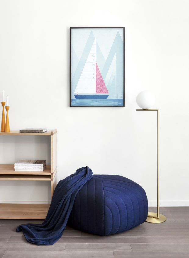 Modern minimalist poster by Opposite Wall with poster of illustration of Geneva - Entryway