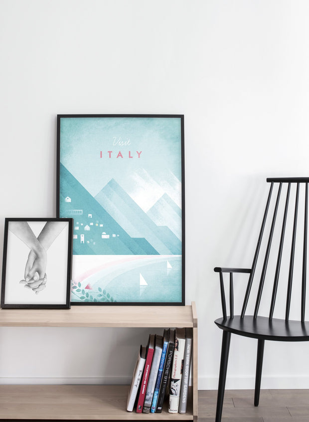 Modern minimalist travel poster by Opposite Wall with poster duo including illustration of Italy - Entryway