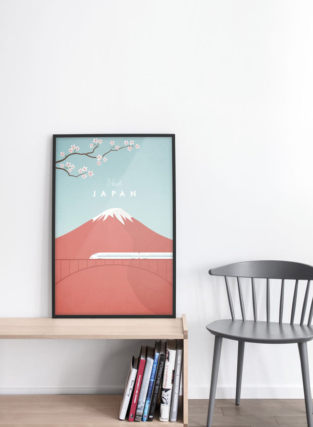 Modern minimalist travel poster by Opposite Wall including illustration of Japan - Entryway