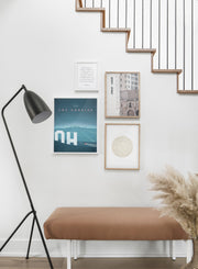 Modern minimalist travel poster by Opposite Wall with poster trio including illustration of Los Angeles - Entryway
