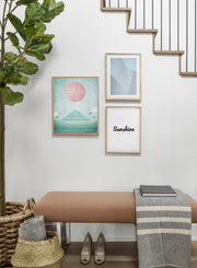 Modern minimalist travel poster by Opposite Wall with poster trio including illustration of Mexico - Entryway