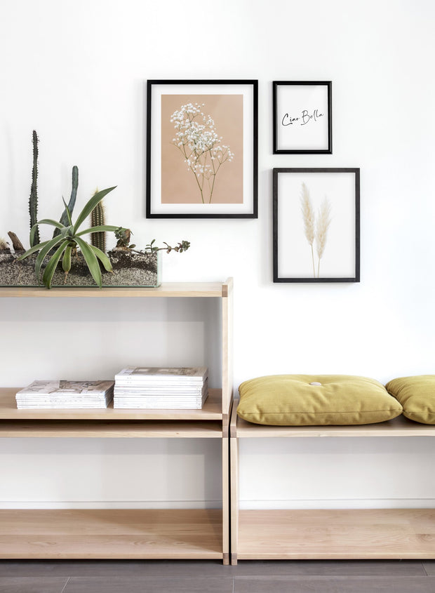 Minimalist wall poster by Opposite Wall of Baby's Breath flower photography - Entryway