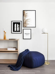 Minimalist wall art poster trio featuring Wispy Grasses botanical photography - Entryway