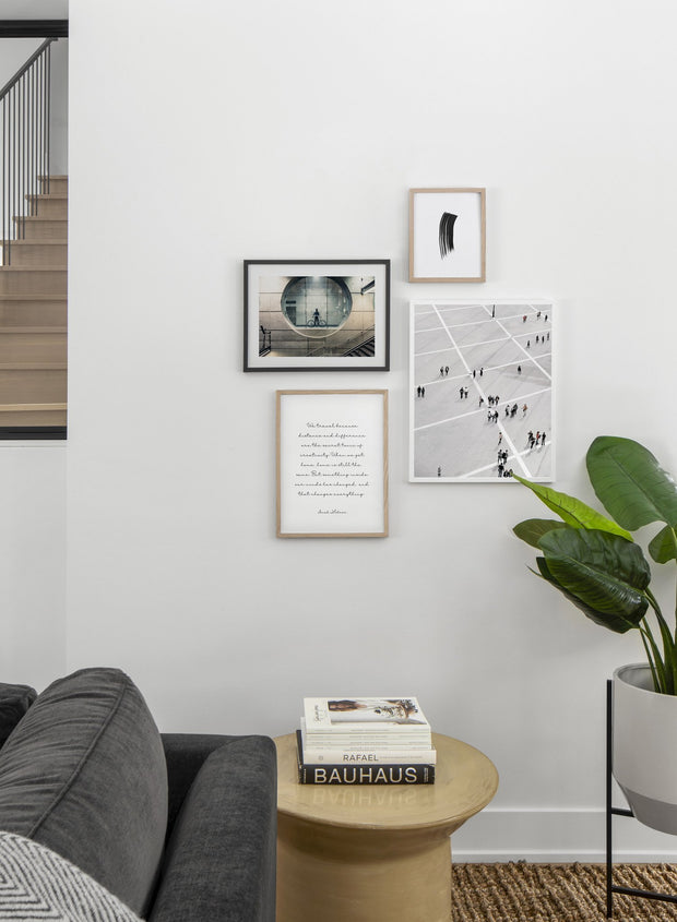 Commuter modern minimalist photography poster by Opposite Wall - Living room