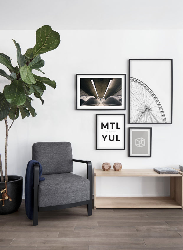 Grande Roue de Montreal modern minimalist photography poster by Opposite Wall - Living room