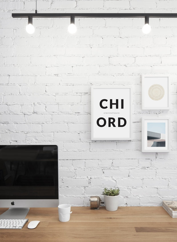 Destination: Chicago modern minimalist photography poster by Opposite Wall - Office Desk