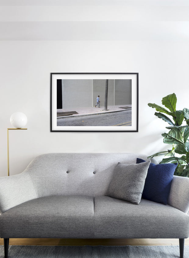 City Stroll modern minimalist photography poster by Opposite Wall - Living room