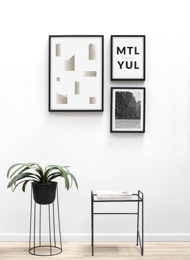Cityscapes modern minimalist photography poster by Opposite Wall - Table