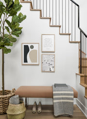 Movement modern minimalist abstract poster by Opposite Wall - Entryway