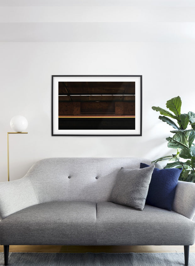 Namur Station modern minimalist photography poster by Opposite Wall - Living room