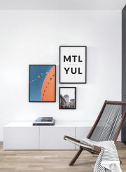 Destination: Montreal modern minimalist photography poster by Opposite Wall - Living room