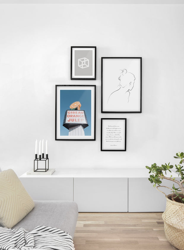 Gibeau Orange Julep modern minimalist photography poster by Opposite Wall - Living room
