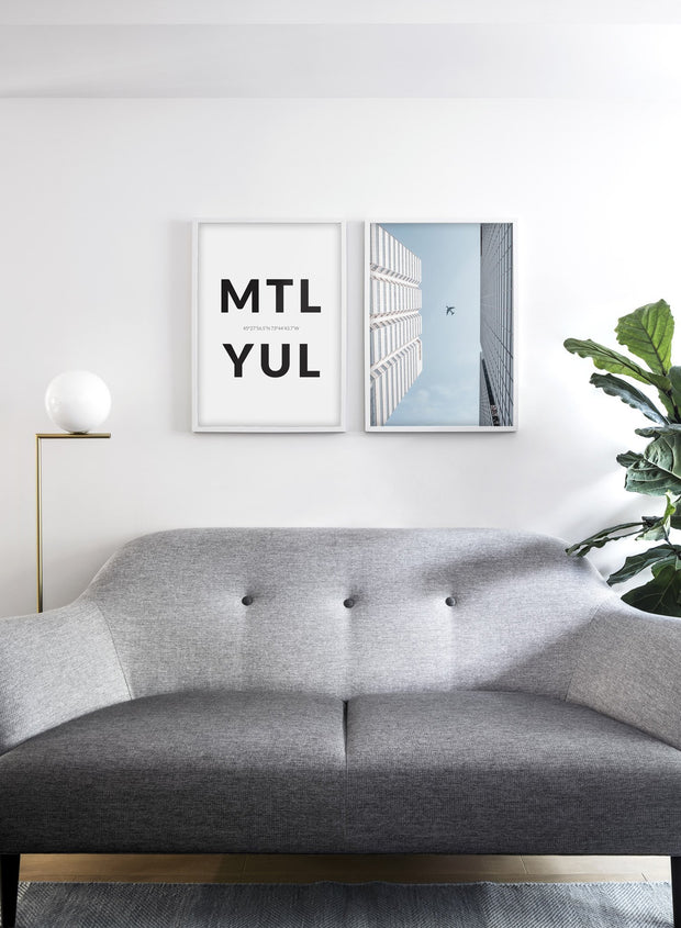 Flyover modern minimalist photography poster by Opposite Wall - Living room