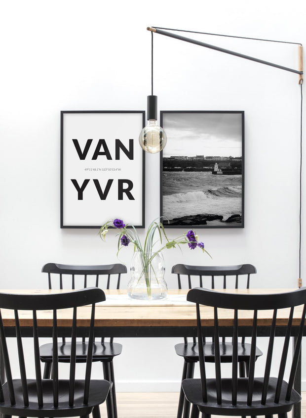 Destination: Vancouver modern minimalist photography poster by Opposite Wall - Dining Room
