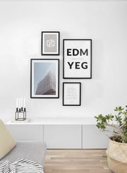 Destination: Edmonton modern minimalist photography poster by Opposite Wall - Living room