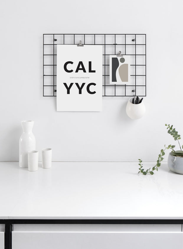 Destination: Calgary modern minimalist photography poster by Opposite Wall - Office