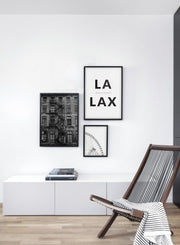 Destination: L.A. modern minimalist photography poster by Opposite Wall - Living room